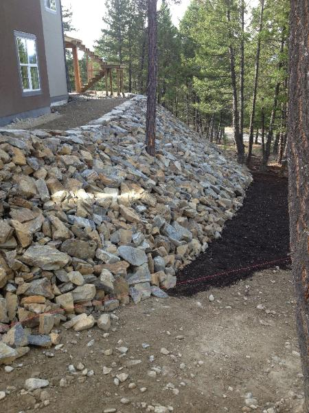 RipRap stone embankment