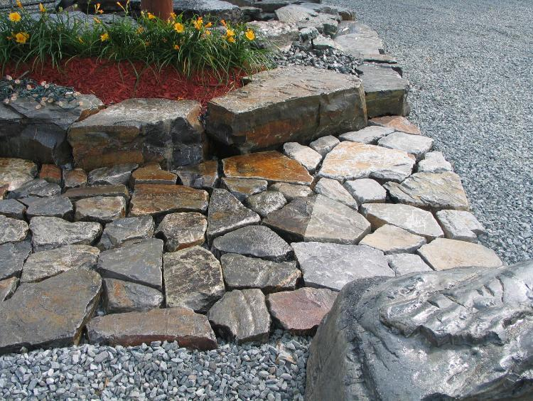 Acrylic Polymer Sealer on Iron Stone Cobblestone