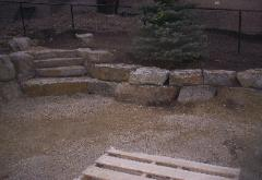 Moyie Rust Iron Stone Steps , Retaining Wall Rock