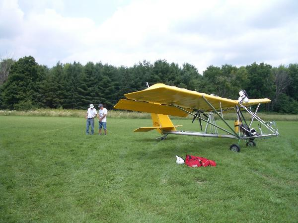 tug is used to tow hang gliders